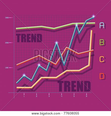 Flat Trend Graphic
