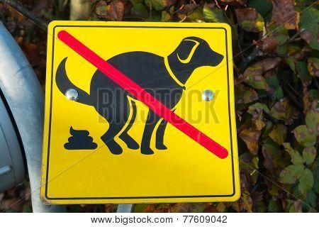 Sign Of No Dog Shit