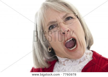Mature Woman Yelling