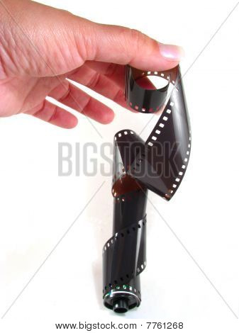 Woman's Hand with Film