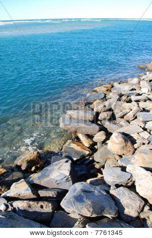 Rocks On The Shore In Australia