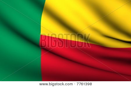 Flying Flag Of Benin | All Countries Collection |
