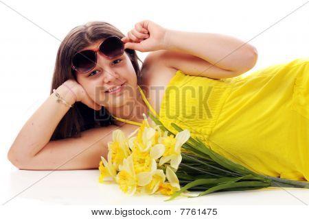 Peeking From Under Sunglasses