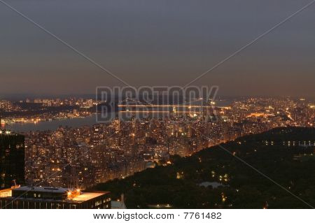 Manhattan city lights