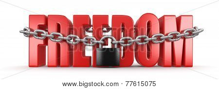 Freedom and lock (clipping path included)