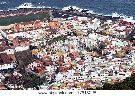 Panoramic view of Garachico town in Tenerife, Canary island