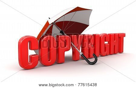 Copyright under Umbrella (clipping path included)