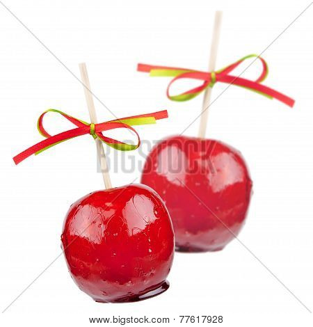 two candied apples