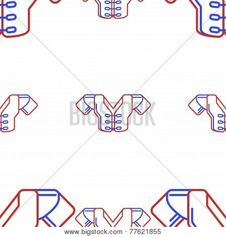 Vector background for sport. Protection frame