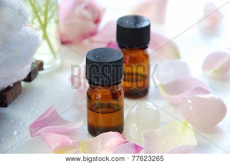 aromatherapy bath with rose