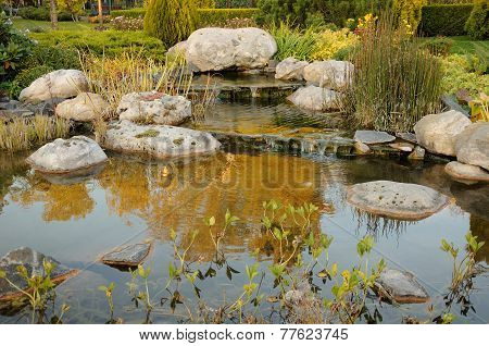 Example Of Landscaping With Stream