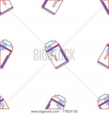Vector background for drink can