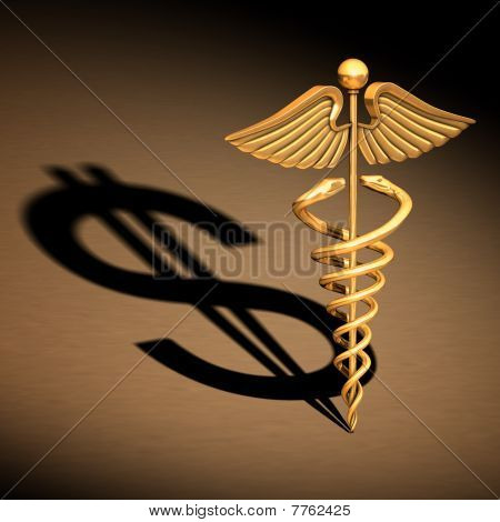 Caduceus medical Symbol Chrom