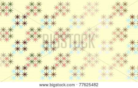 Abstract background of stars on ivory background
