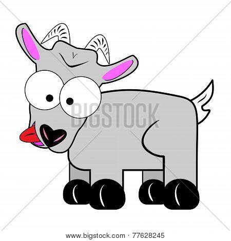 Wacky Goat Cartoon Character
