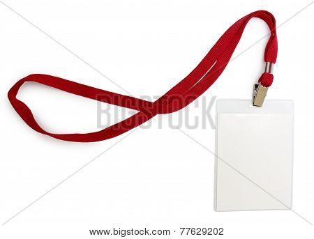 Name Badge With Red Lace