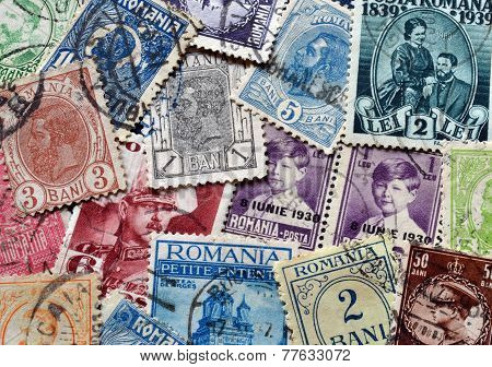 Old Romanian stamps