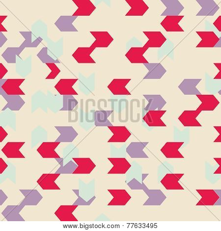 Chevron seamless colorful vector pattern or tile background with zig zag