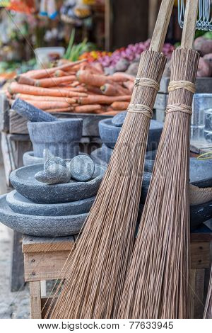 Old Fashioned Straw Brooms