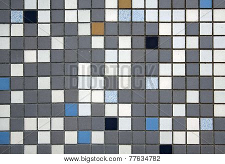 Colored mosaic tiles.
