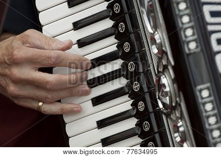 Playing accordeon