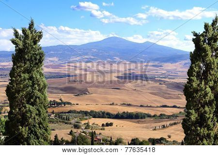 Aerial Tuscan landscape view