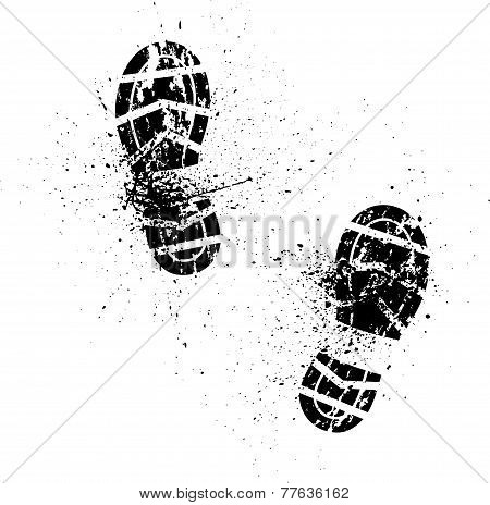Splash shoe print