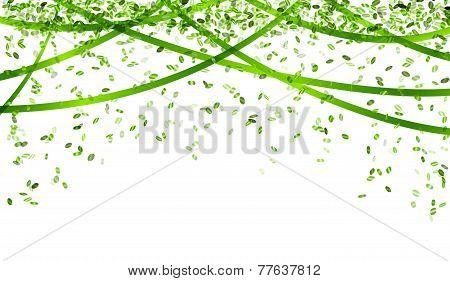 Falling Green Confetti