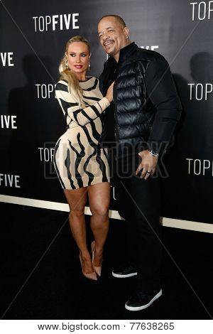 NEW YORK-DEC 3: Actor Ice-T (R) and wife CoCo Austin attend the