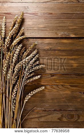 Harvest On Old Wooden Table