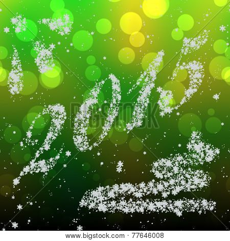 Snowing New Year 2015 Generated Hires Texture