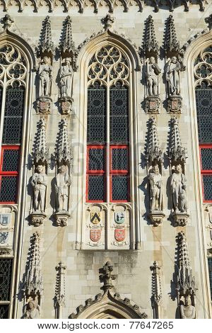 Closeup View At The Town Hall In Bruges