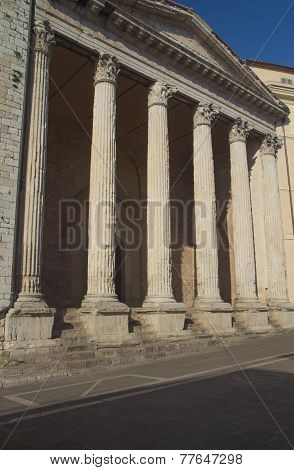 Church At Piazza Del Comune In Assisi