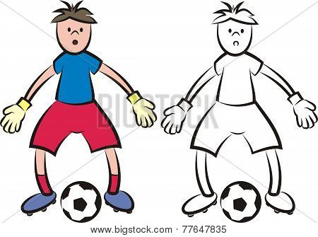 vector soccer player - goalkeeper