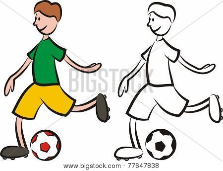 vector soccer player - striker