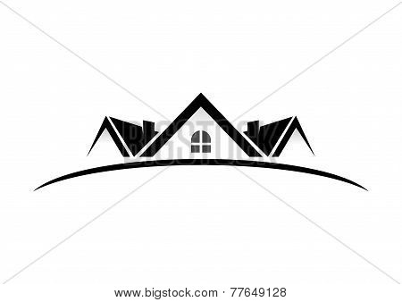 real eatate home vector logo design