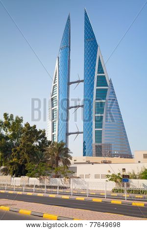 Modern Building Of Bahrain World Trade Center, Manama