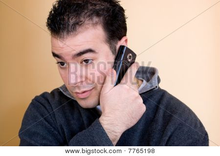 Man On His Phone