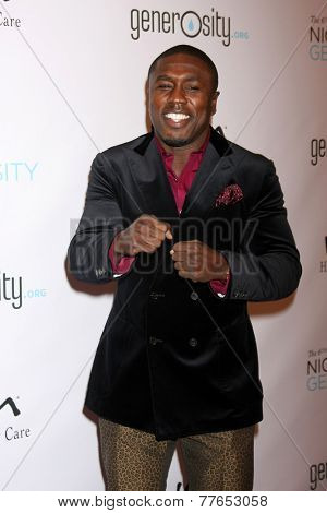 LOS ANGELES - DEC 5:  Andre Berto at the 6th Annual Night Of Generosity at the Beverly Wilshire Hotel on December 5, 2014 in Beverly Hills, CA