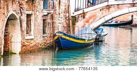 bridge across the canal. Venice, Italy