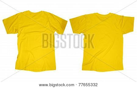 Wrinkled Yellow Shirt Template