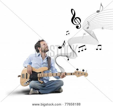 Boy With Bass Guitar