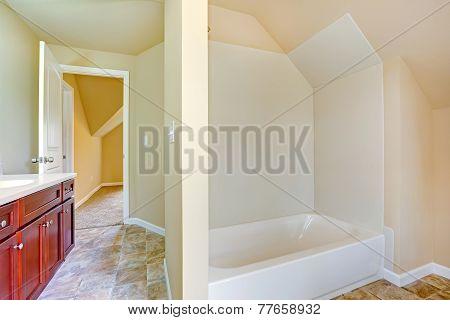 Empty Bathroom Interior.