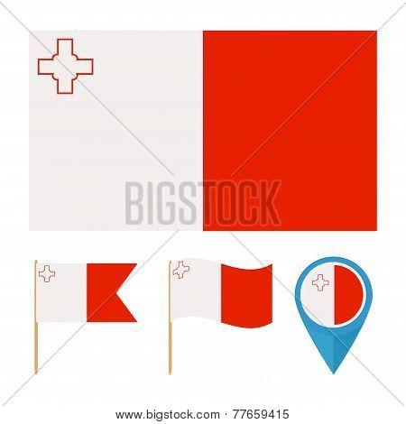Malta, country flag vector