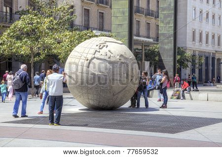 Saragossa. A Sculpture Is Globe