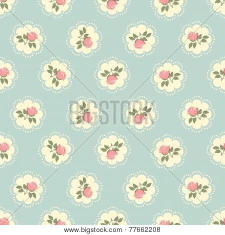 Classic wallpaper seamless vintage rose pattern