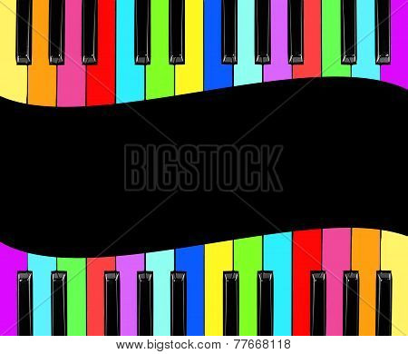 Color Piano Isolated