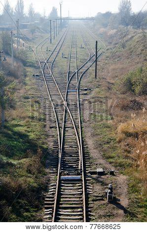 Railroad Tracks In Kerch