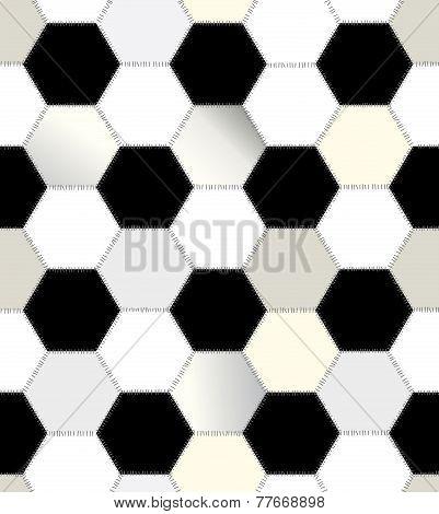 Patchwork of hexagons