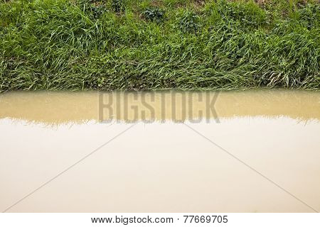 Ditch In A Field After Torrential Rain